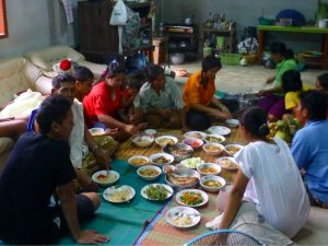Invitation to dinner in northern Thailand