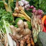 Gesunde, schmackhafte und frische Zutaten